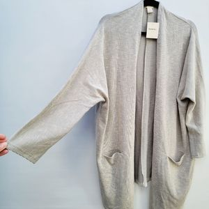 Donni Gray Beigey Striped Cardigan